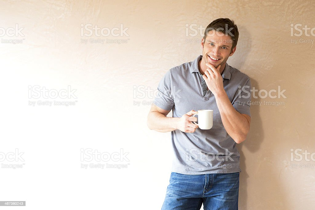 Man in New Home royalty-free stock photo