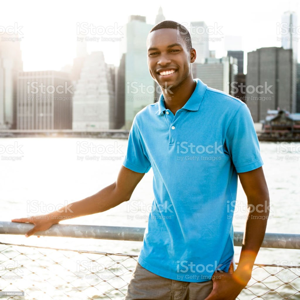 Man in New York royalty-free stock photo