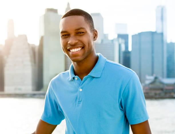 Man in New York stock photo