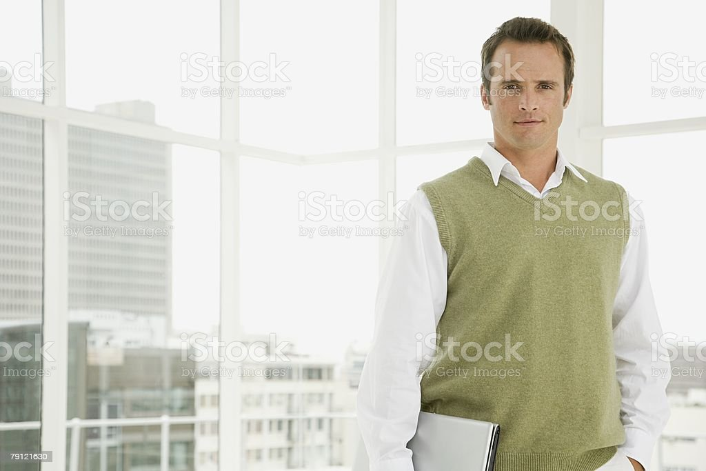 Man in office stock photo