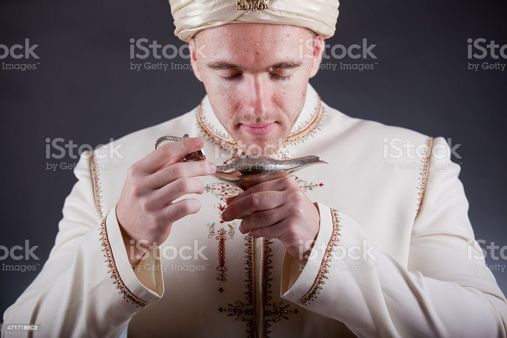 man in oriental costume royalty-free stock photo