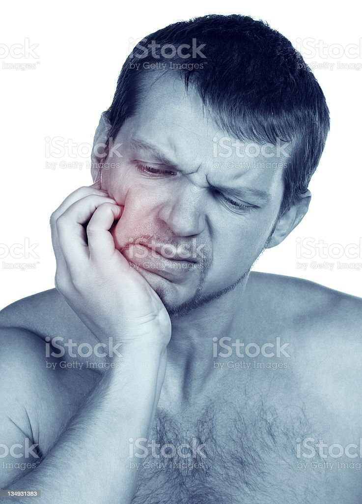 man in pain is having toothache royalty-free stock photo