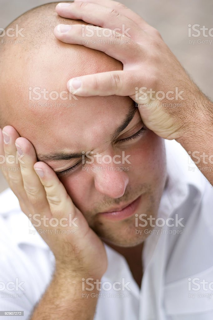 Man In Pain royalty-free stock photo