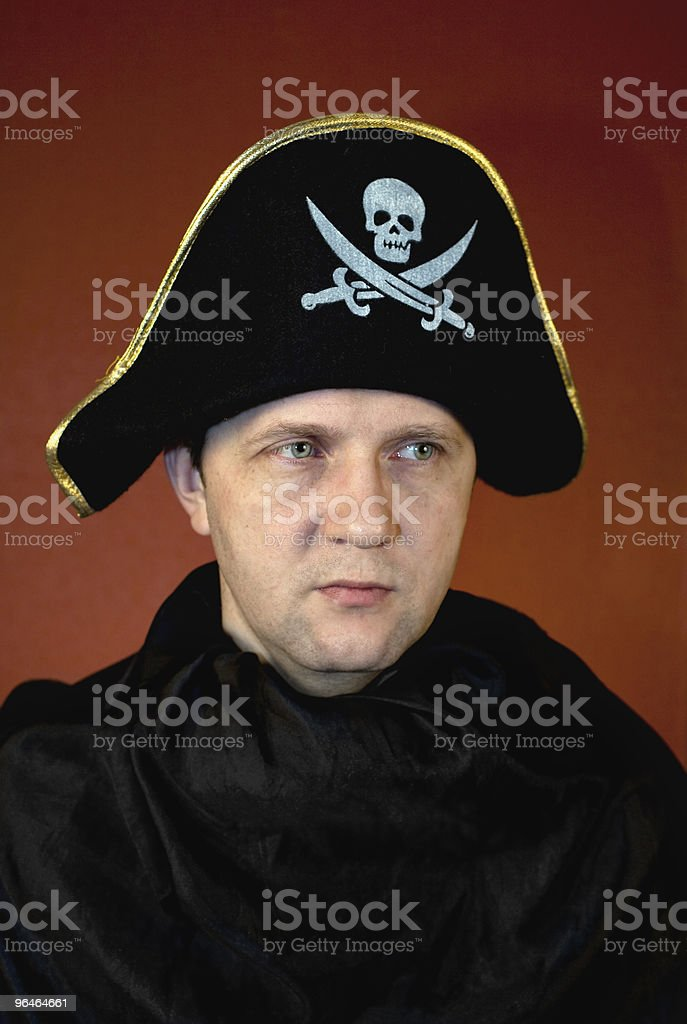 Man in Pirate costume royalty-free stock photo