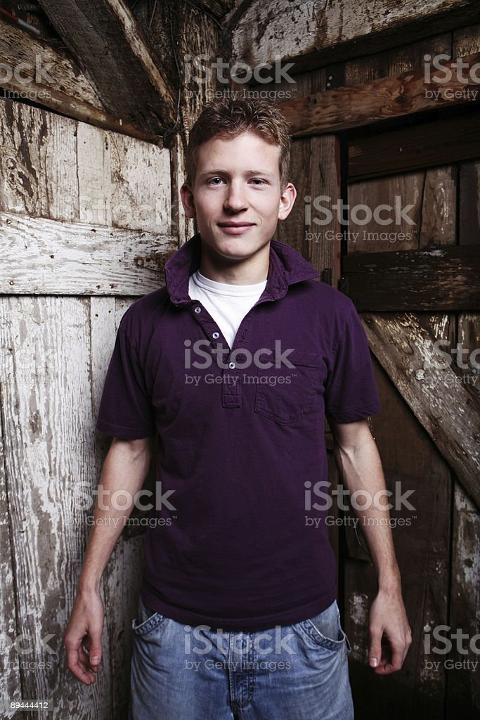 Man in Polo Portrait royalty-free stock photo