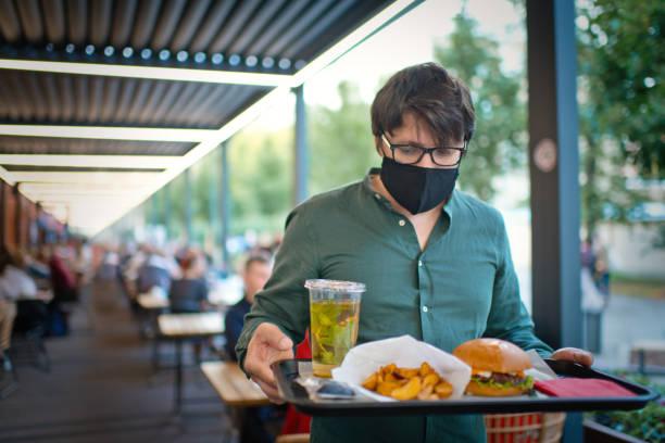 Man in protective face mask with food on trey of an open terrace of a picture id1270244254?b=1&k=6&m=1270244254&s=612x612&w=0&h=7rlbhu3qxwgoedin66fbnpq9b bzb7jpx3hody4fu1y=