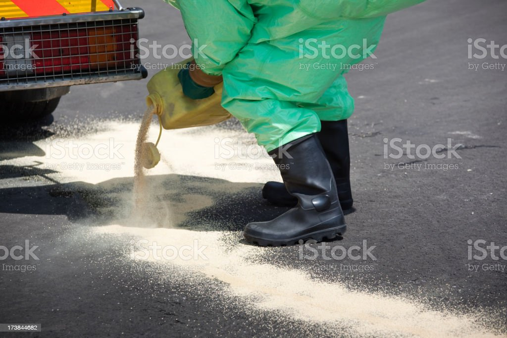 Man in protective gear stock photo