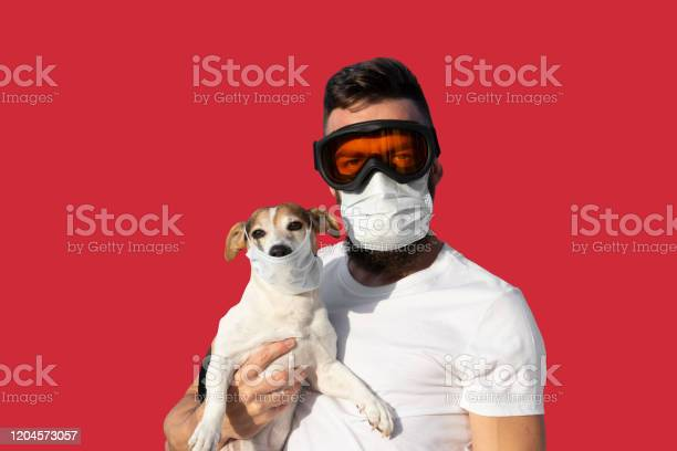Man in protective mask and glasses holds cute jack russell dog in picture id1204573057?b=1&k=6&m=1204573057&s=612x612&h=eb7ntv   3bmzhquildxzlptl8yisx3xhgc87mqbm0o=