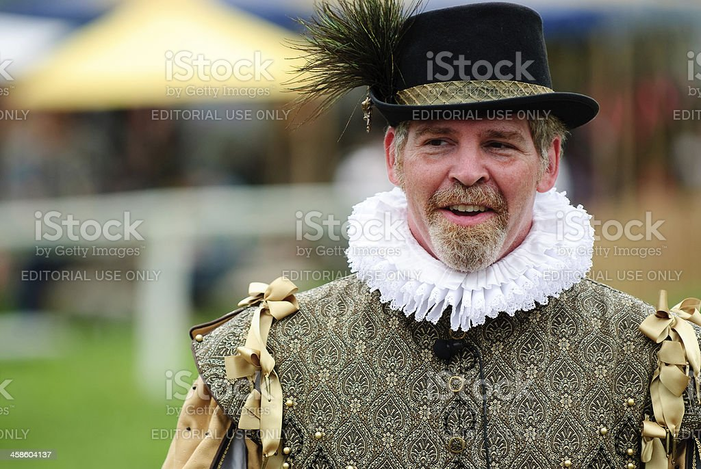 Man in Renaissance Attire stock photo