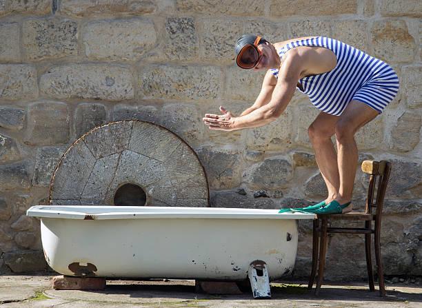 Rétro homme en maillot de bain - Photo