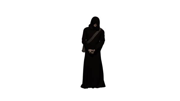 Man in robe isolated stock photo