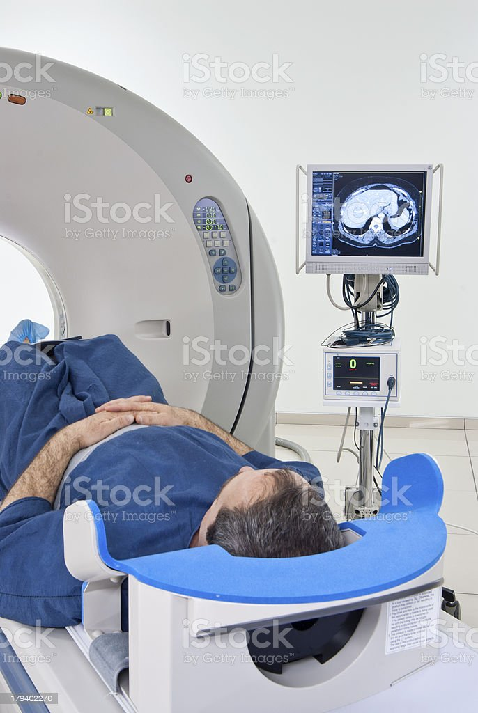 Man in Scanner royalty-free stock photo