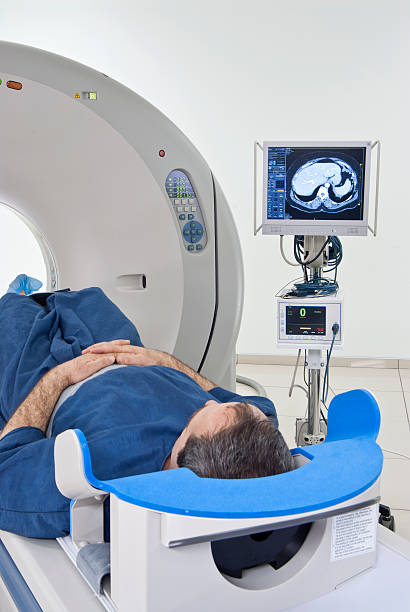 Man in Scanner stock photo