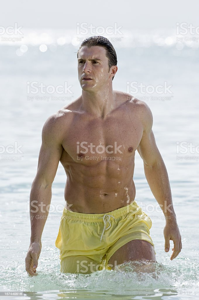 Man in Sea royalty-free stock photo