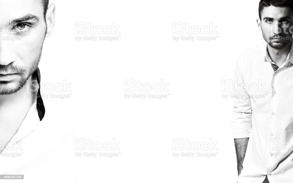 Man in shirt stock photo