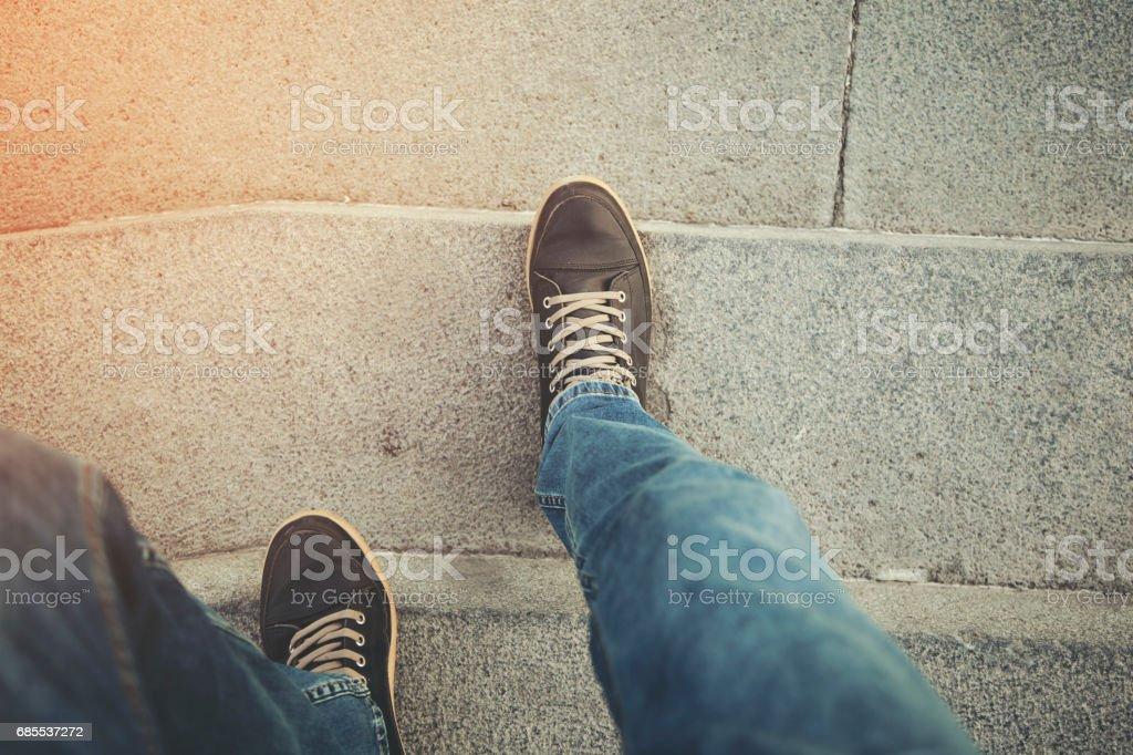man in stair royalty-free 스톡 사진