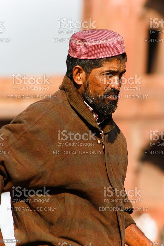 Man in street stock photo