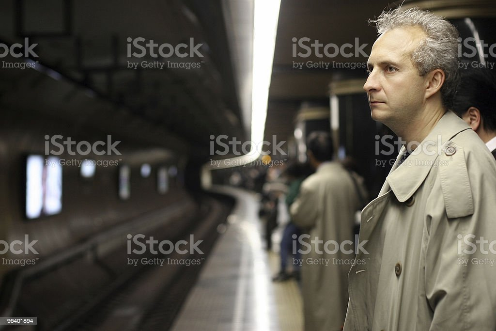 Man in subway - Royalty-free Adult Stock Photo