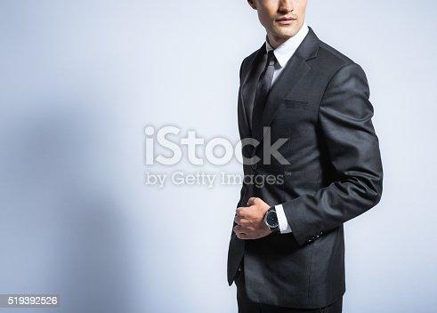 Man in suit. Studio shot.