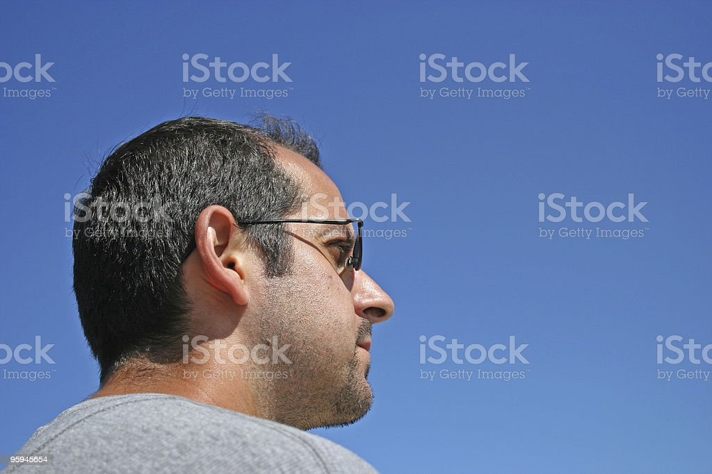 Man in Sunglasses royalty-free stock photo