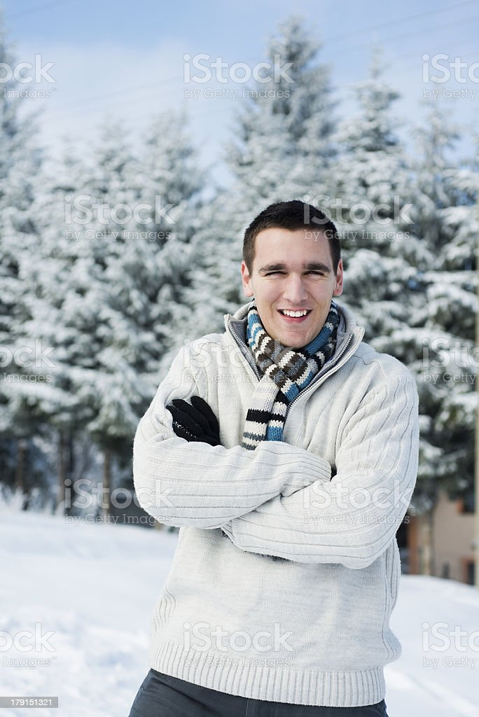 Man in sweater royalty-free stock photo