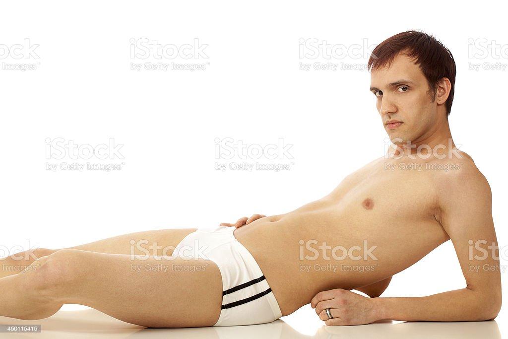 Man in Swimwear royalty-free stock photo