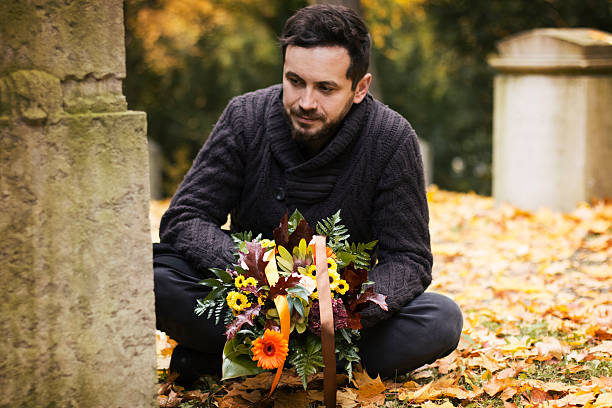 Człowiek w Cmentarz – zdjęcie