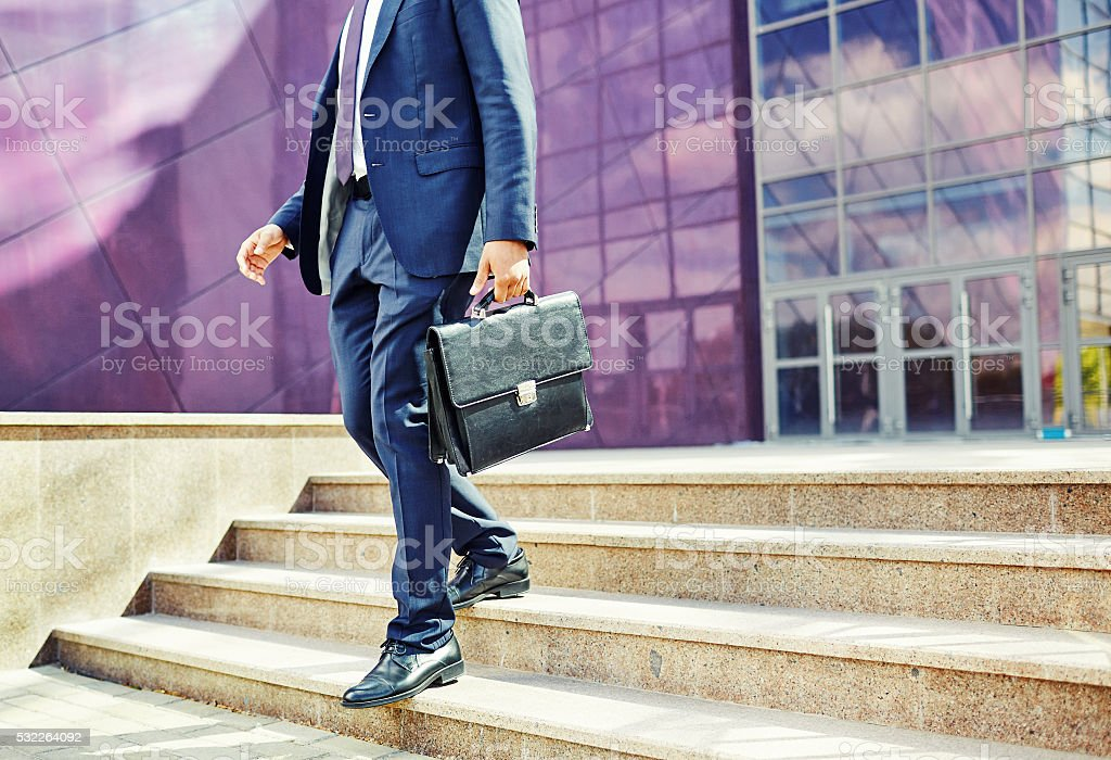 Man in the city stock photo