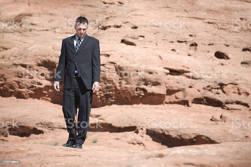 Man in the Desert royalty-free stock photo