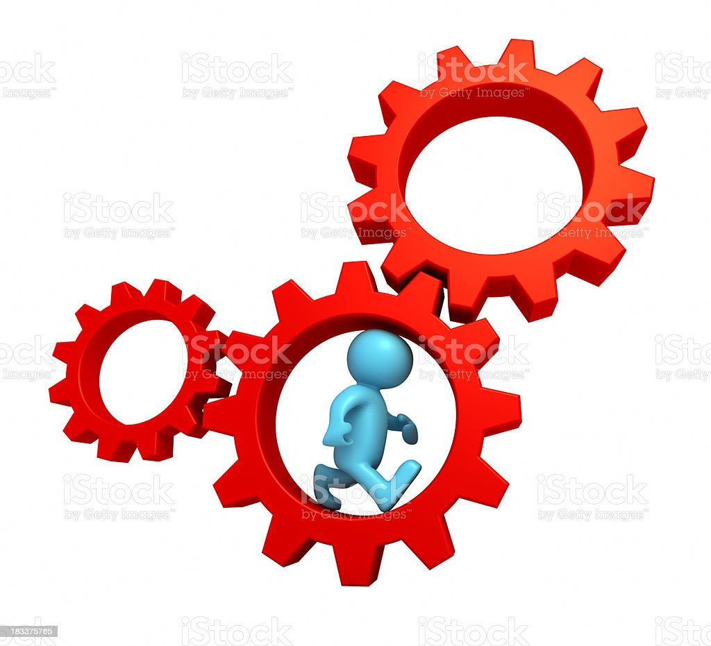 Man in the gear royalty-free stock photo