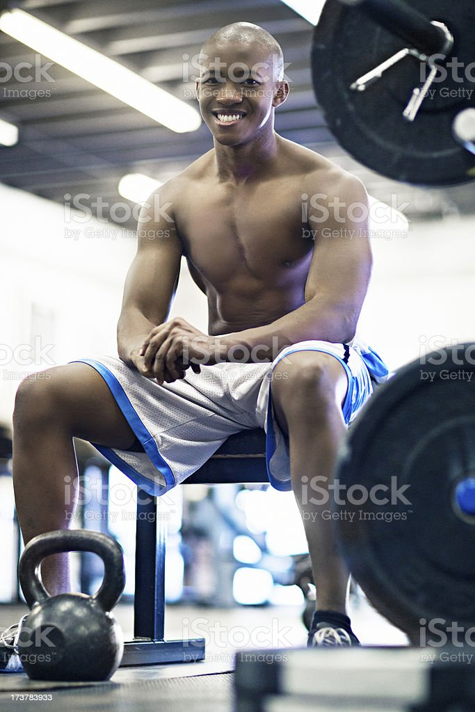 Man in the gym gym stock photo