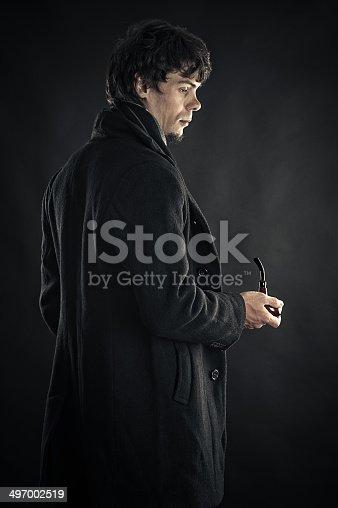 istock man in the image of Sherlock 497002519