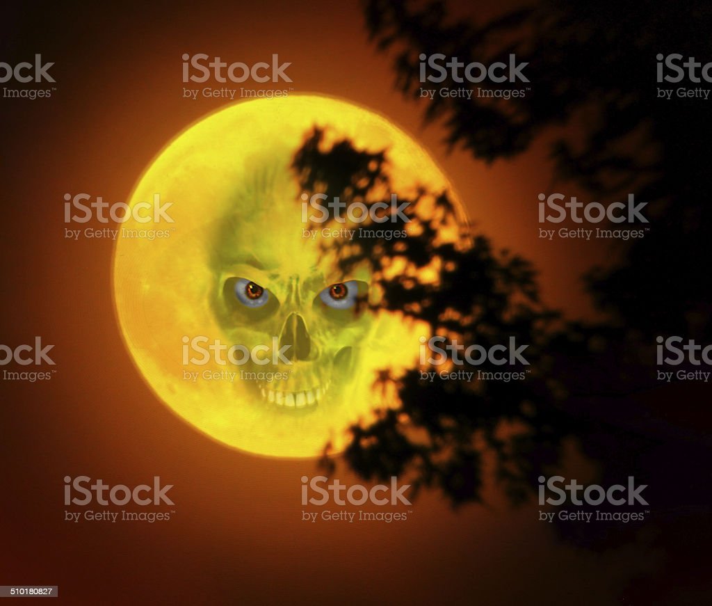 Man in the Moon stock photo