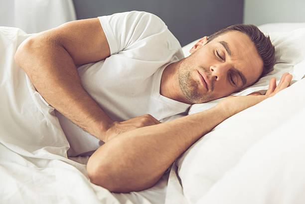 Man in the morning stok fotoğrafı