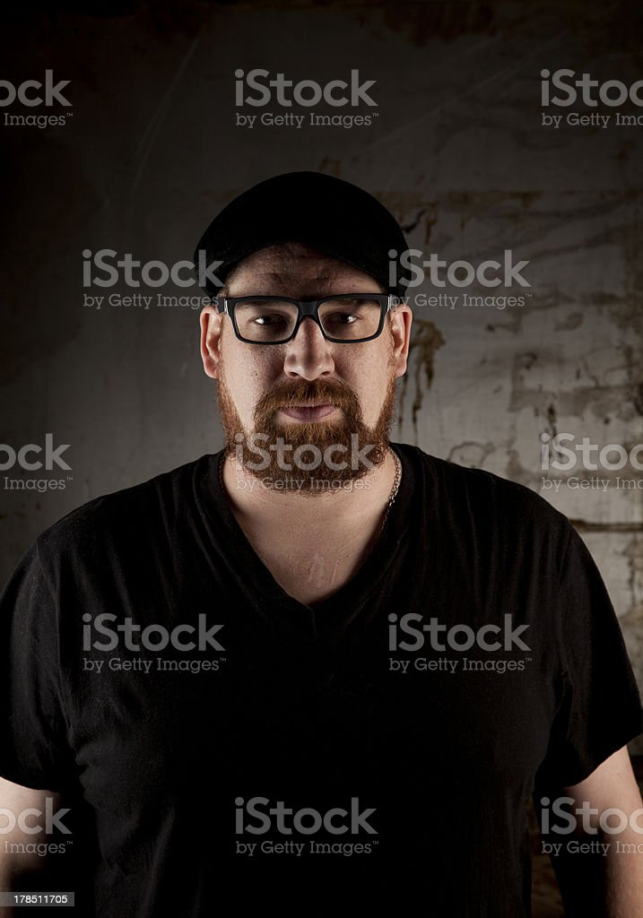 Man in the shadows royalty-free stock photo