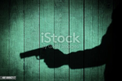 istock Man in the Shadows with handgun, XXXL 481889217