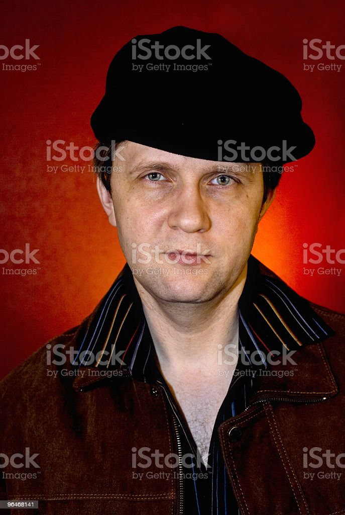 Man in the striped shirt royalty-free stock photo
