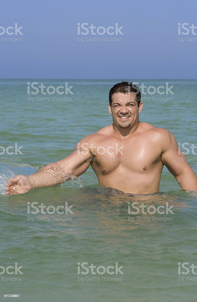 Man in the water royalty-free stock photo