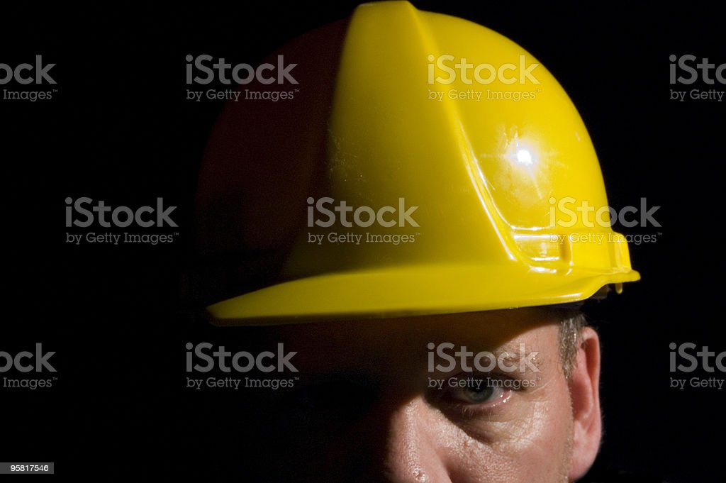 Man in the Yellow Hardhat stock photo