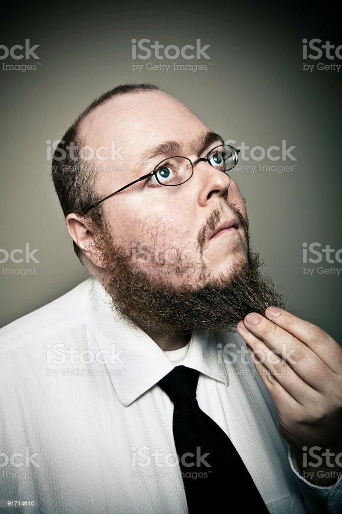 Man in Thought stock photo