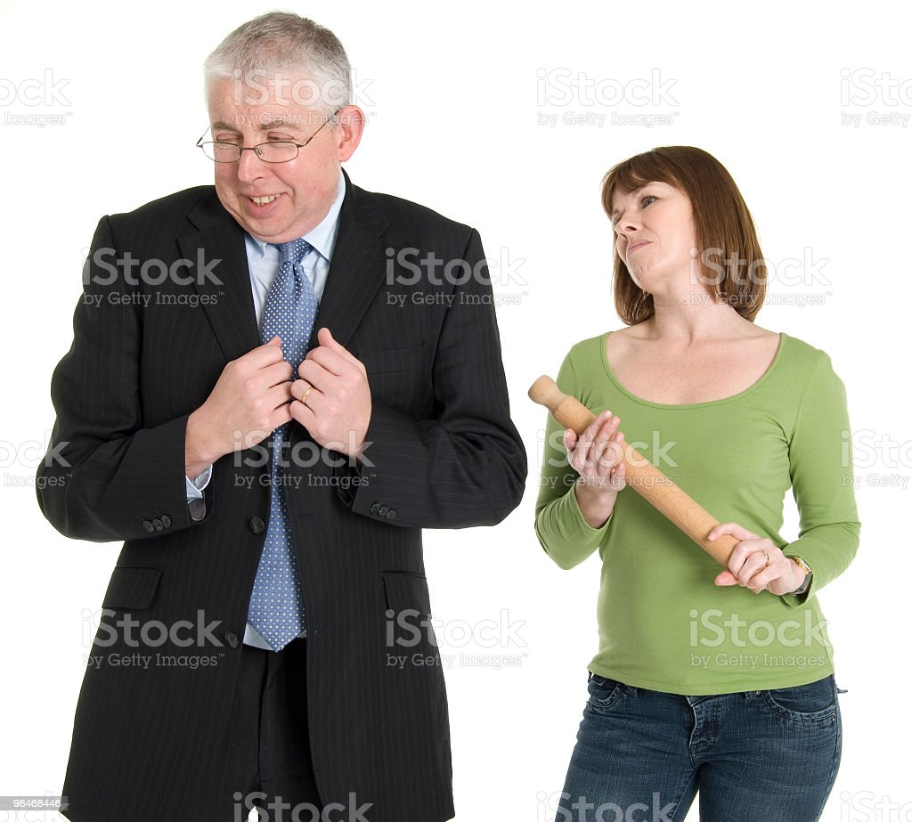 Man in Trouble royalty-free stock photo