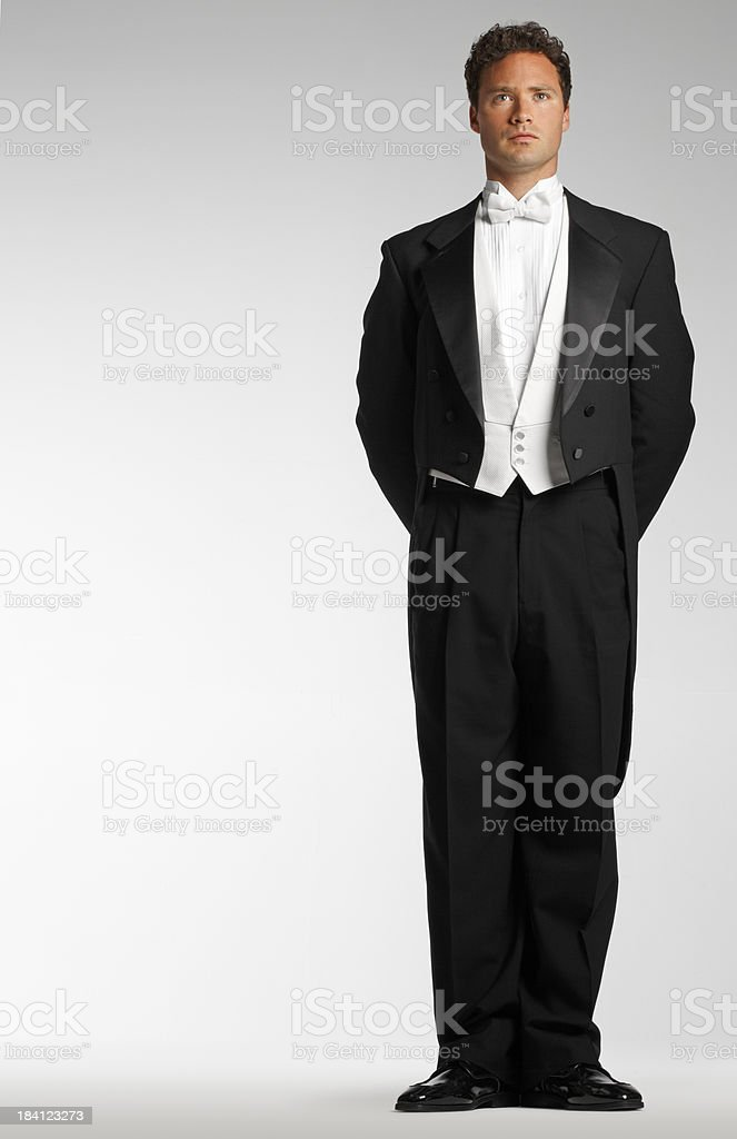 Man In Tuxedo royalty-free stock photo