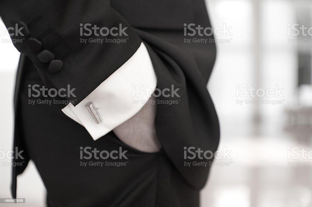 Man in tuxedo stock photo