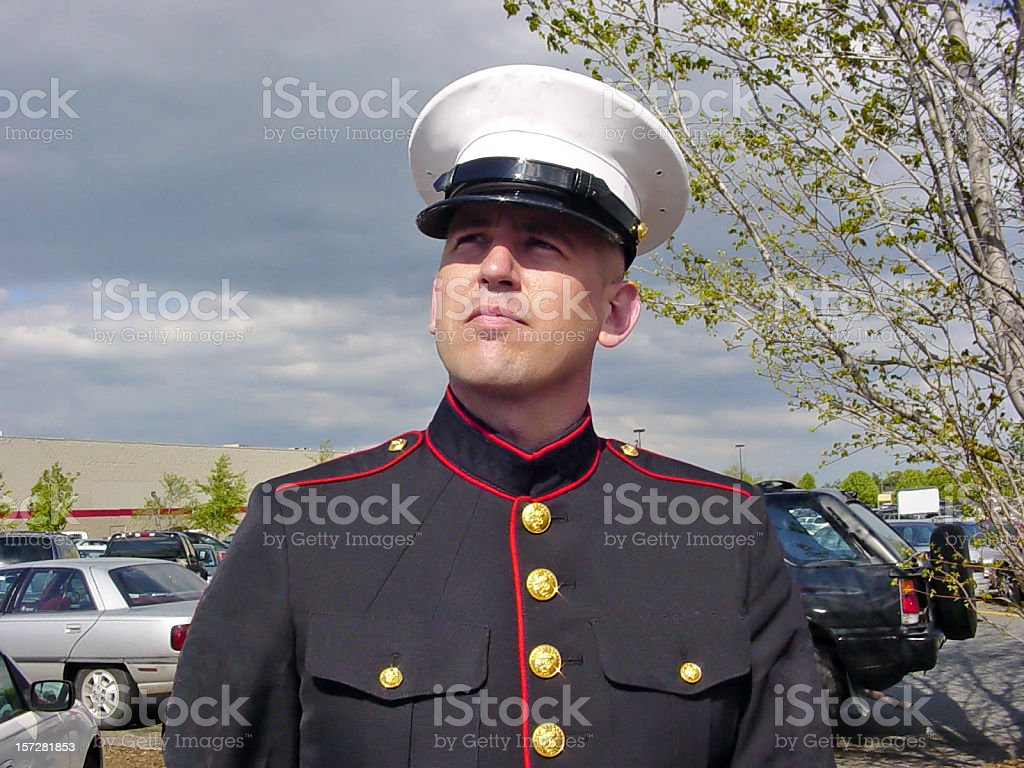 Man in Uniform stock photo