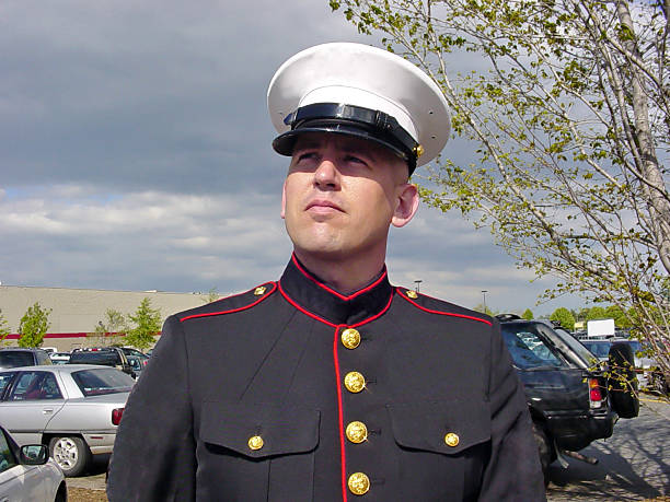 man in uniform - marines stock photos and pictures