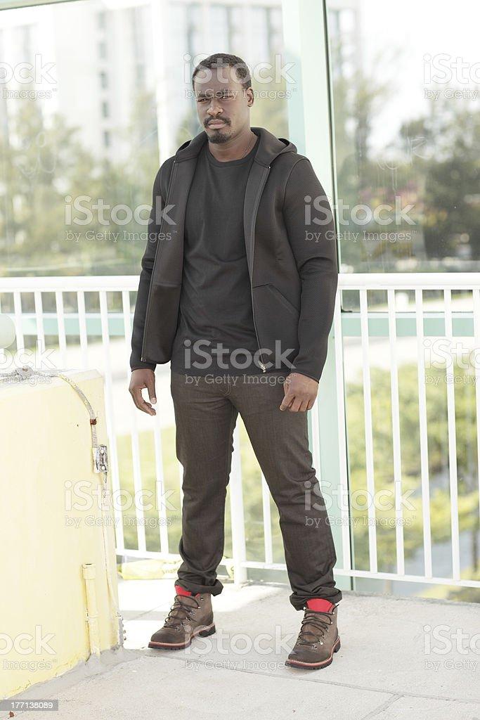 Man in urban clothing stock photo