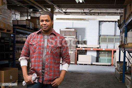 istock Man in warehouse 533936669