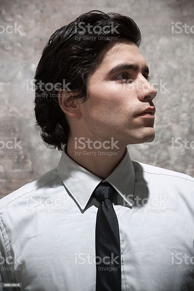 Man in warehouse royalty free stockfoto