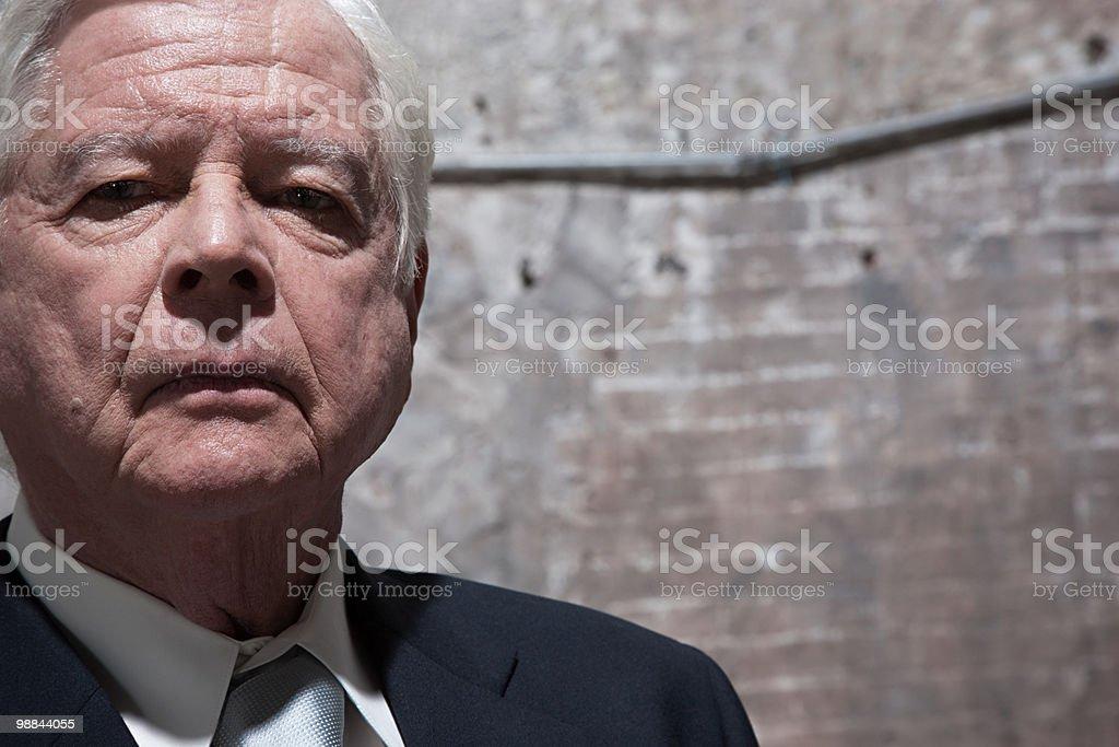 Homem no Armazém foto royalty-free