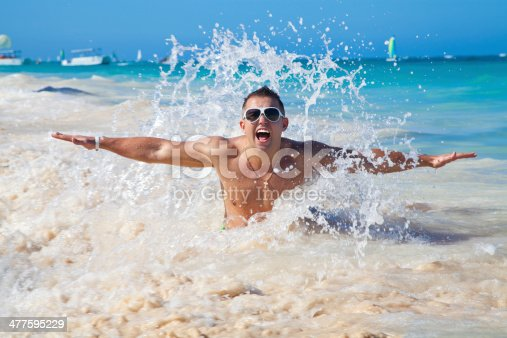 istock man in water of tropical sea 477595229